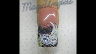 Uñas de gel Máscara de Carnaval / Carnival Mask uv gel nails / (Sorteo Ross Nails)