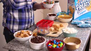 Kellogs Rice Krispies Treats Candy Bar Bites Recipe Video