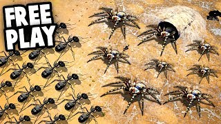 Conquering the SPIDER ARMY!  NEW Free Play Mode (Empires of the Undergrowth)
