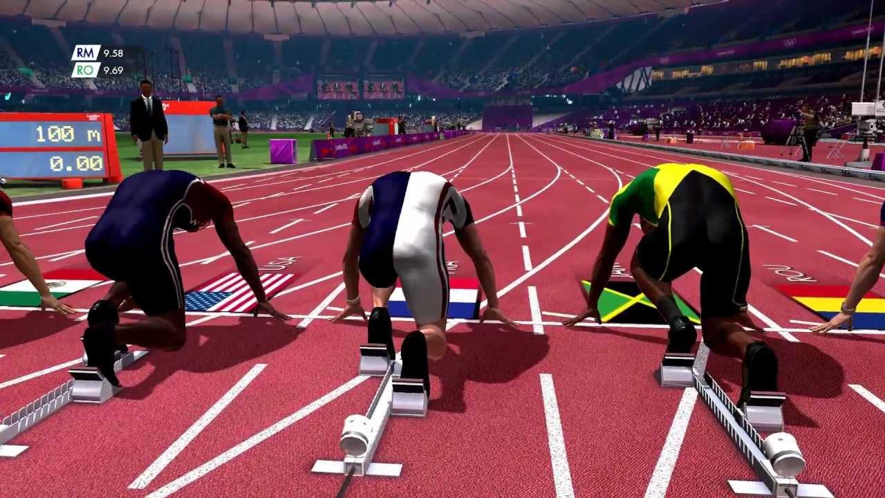 London 2012 - 100m dash gameplay clip (PC. 1080p) - YouTube