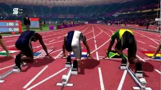 London 2012 - 100m dash gameplay clip (PC, 1080p)