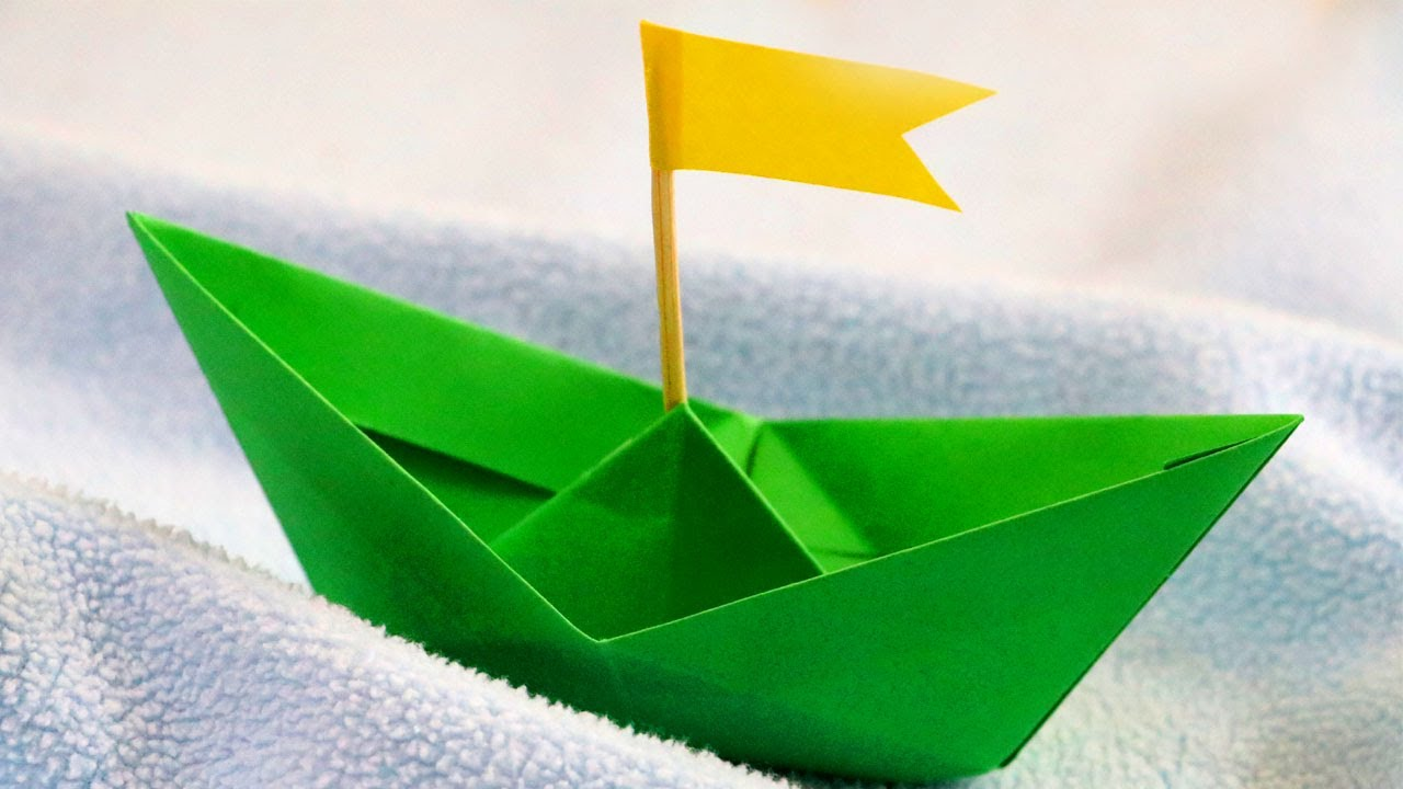 Diy Paper Boat That Floats In Water Easy Paper Crafts For Kids