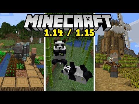 1.14/1.15'DEN HABERLER! PANDALAR,YAĞMACILAR ve DAHA FAZLASI! Minecraft