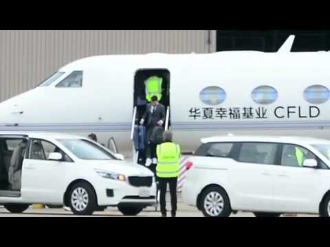 Leo Messi arrives into Melbourne on private jet