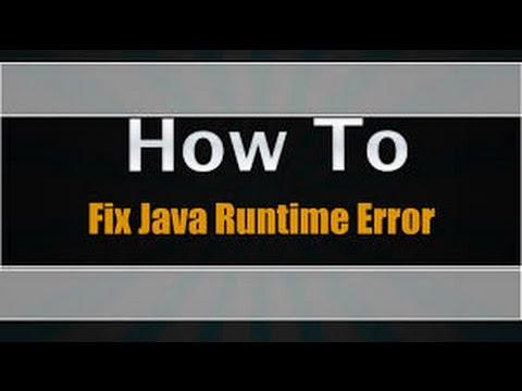 How To Fix Java Runtime Error||MINECRAFT||Tutorial|| - YouTube