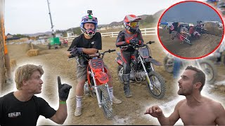 INSANE Pit Bike Race Ends With FIGHT!! *BROKEN ANKLE*