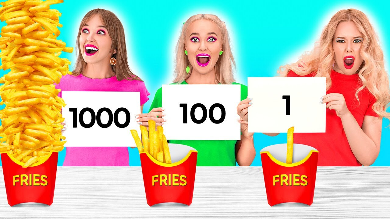 1000 LAYERS MYSTERY BOX CHALLENGE! Try To Win For 24 Hours! Pop it Funny Situations by 123 GO! FOOD