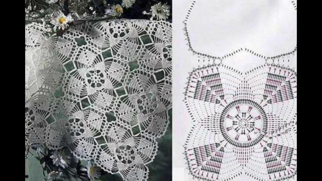 Patrones de manteles tejidos en crochet - YouTube
