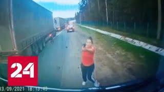 Дорожный конфликт в Подмосковье: в ход пошли пистолет и топор. Дежурная часть - Россия 24