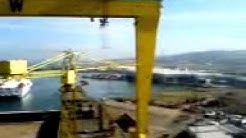 Crane Crash: Shipyard Crane Crash Belfast (H&W Fail)