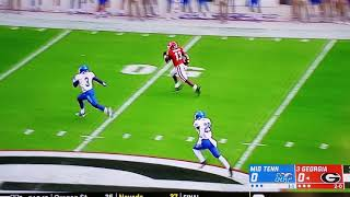 Middle Tennessee vs Georgia College Football Week 3 CFL 2018