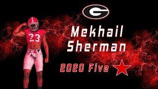 Mekhail Sherman | 5 Star LB Class Of 2020 | UGA Commit