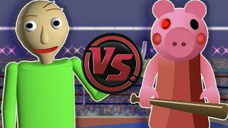 PIGGY vs BALDI! (Baldi's Basics vs Roblox Piggy Rap Battle)   CARTOON RAP ATTACK!