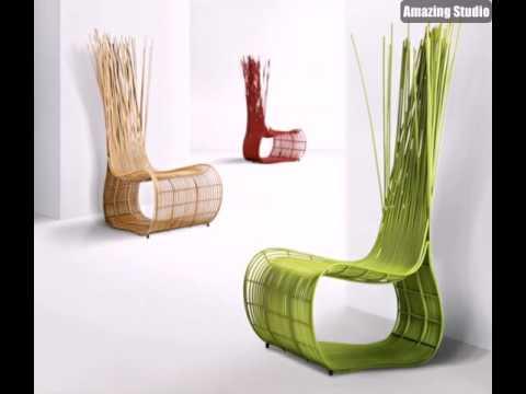 Balkon Lounge Möbel Moderner Grüner Stuhl - YouTube