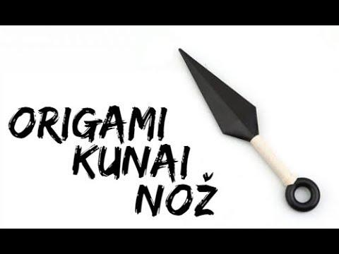 Kako napraviti Kunai noz od papira? How to make a paper Kunai knife?