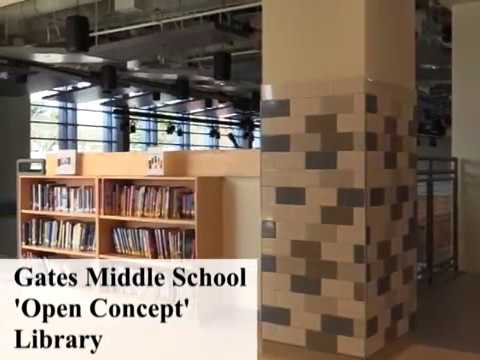 The Gates Middle School 'Open Concept' Library