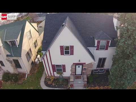 GAF shingles, Best Aerial footage from drone. Great help choosing roof colors