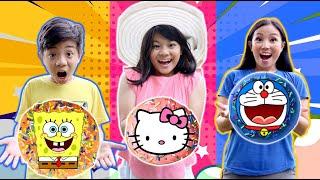 DRAMA   BERBURU DONAT KARAKTER AJAIB DI MOBIL ! Doraemon,Spongebob & Hello Kitty   CnX Adventurers