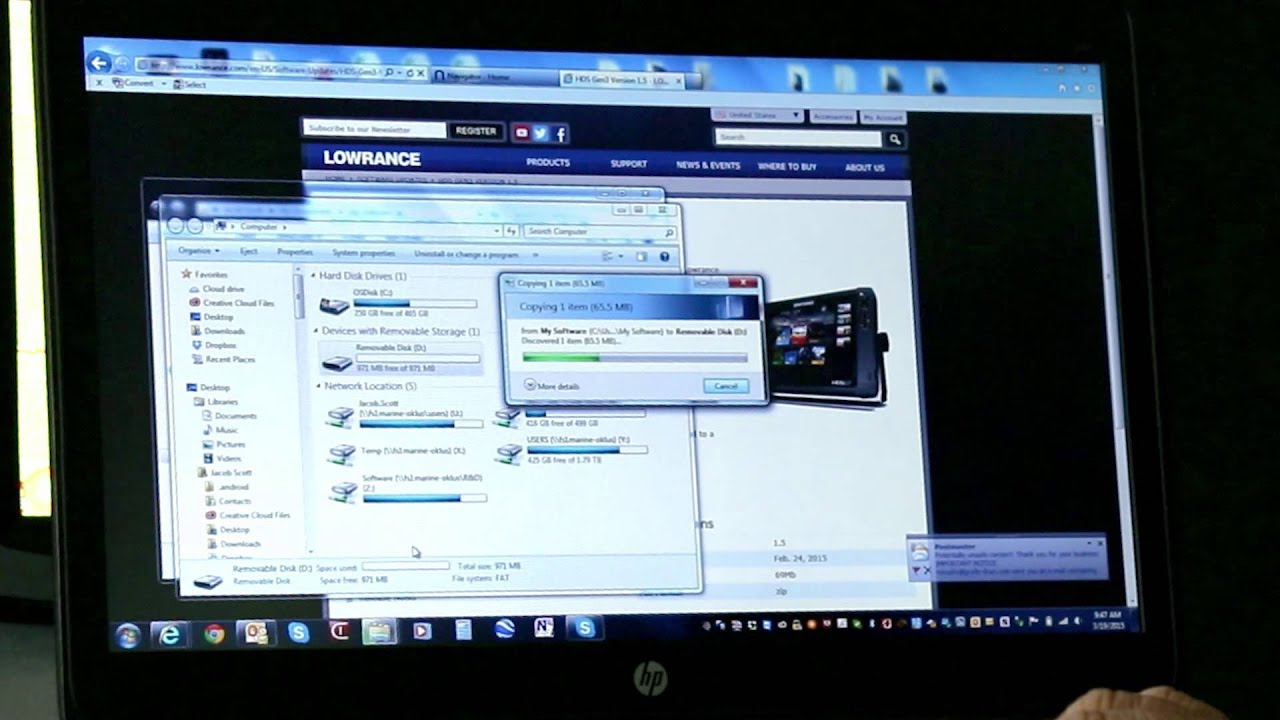 How to upgrade Lowrance HDS Gen3/Gen2 Touch Software