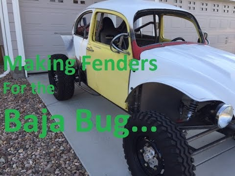 Making Rear Fenders for the Baja Bug