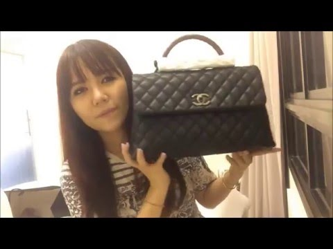 8e4ec175ecb2 Chanel Unboxing  Coco Handle Flap Bag and Chanel Boy Goat Hair - YouTube