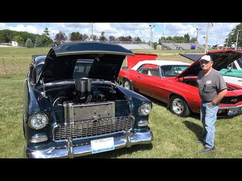 1955 Chevy Belair - Gears and Ears Car Show - MSRA - Engine Start