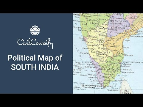 Political Map of South India | Indian Geography (Mapping) Free Course