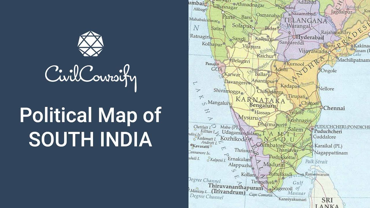 Map South India Political Map of South India | Indian Geography (Mapping) Free