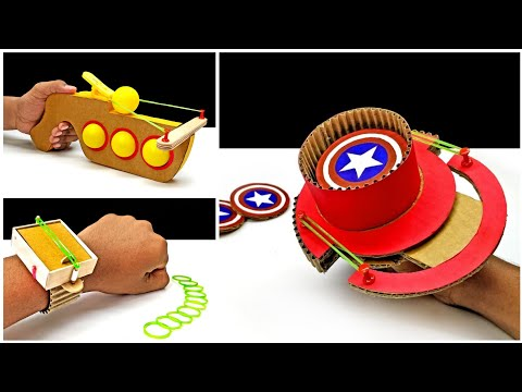 TOP 3 Amazing Shooting Toys From Cardboard