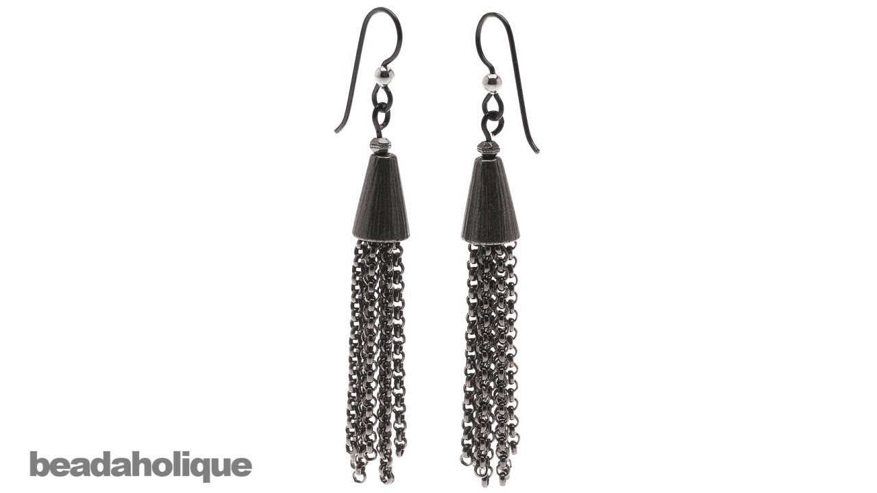 517a90049 How to Make Chain Tassel Earrings - YouTube