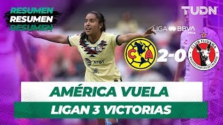 Resumen y Goles América 2 - 0 Tijuana | Liga Mx Femenil Apertura 2019   Jornada 8 | TUDN