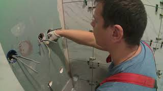 РЕМОНТ КВАРТИРЫ СВОИМИ РУКАМИ. Монтаж плитки на стены в ванной.