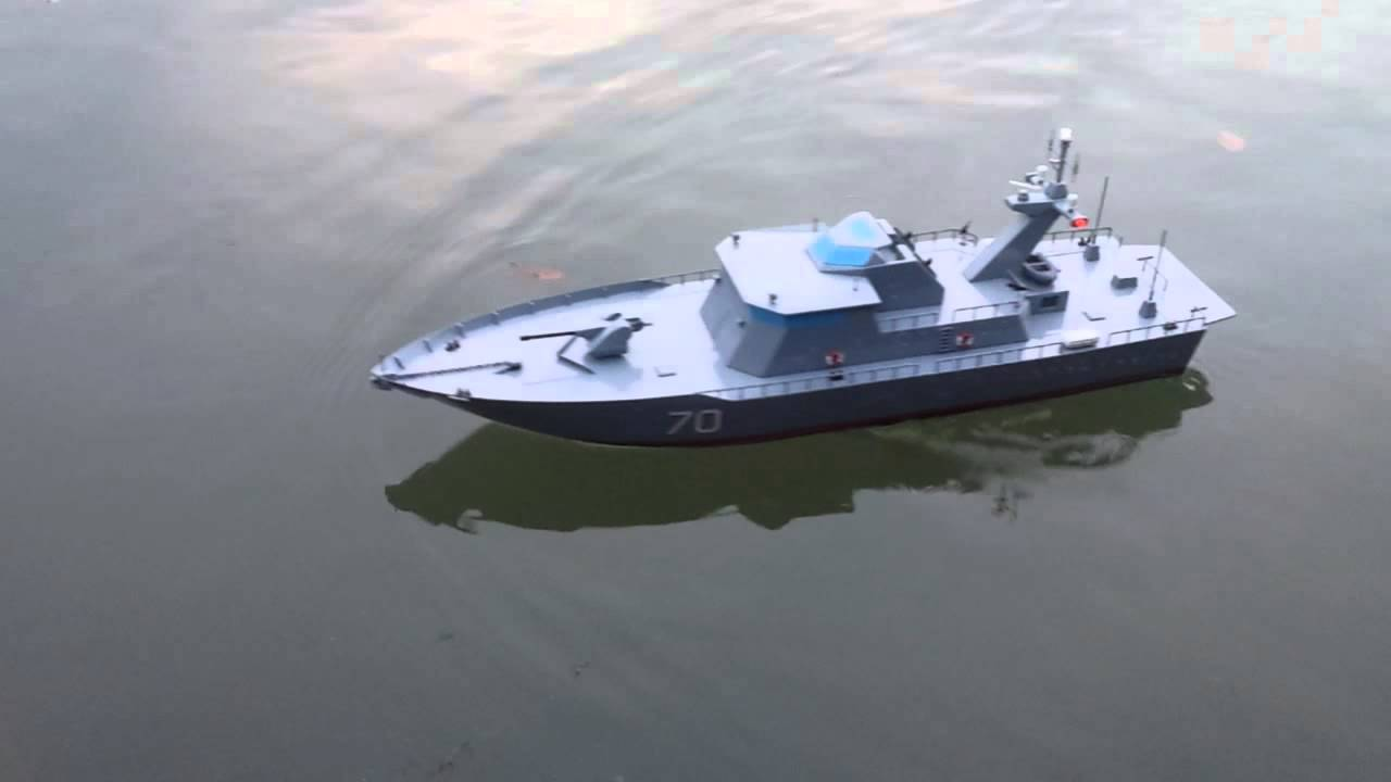 RC Patrol boat - YouTube
