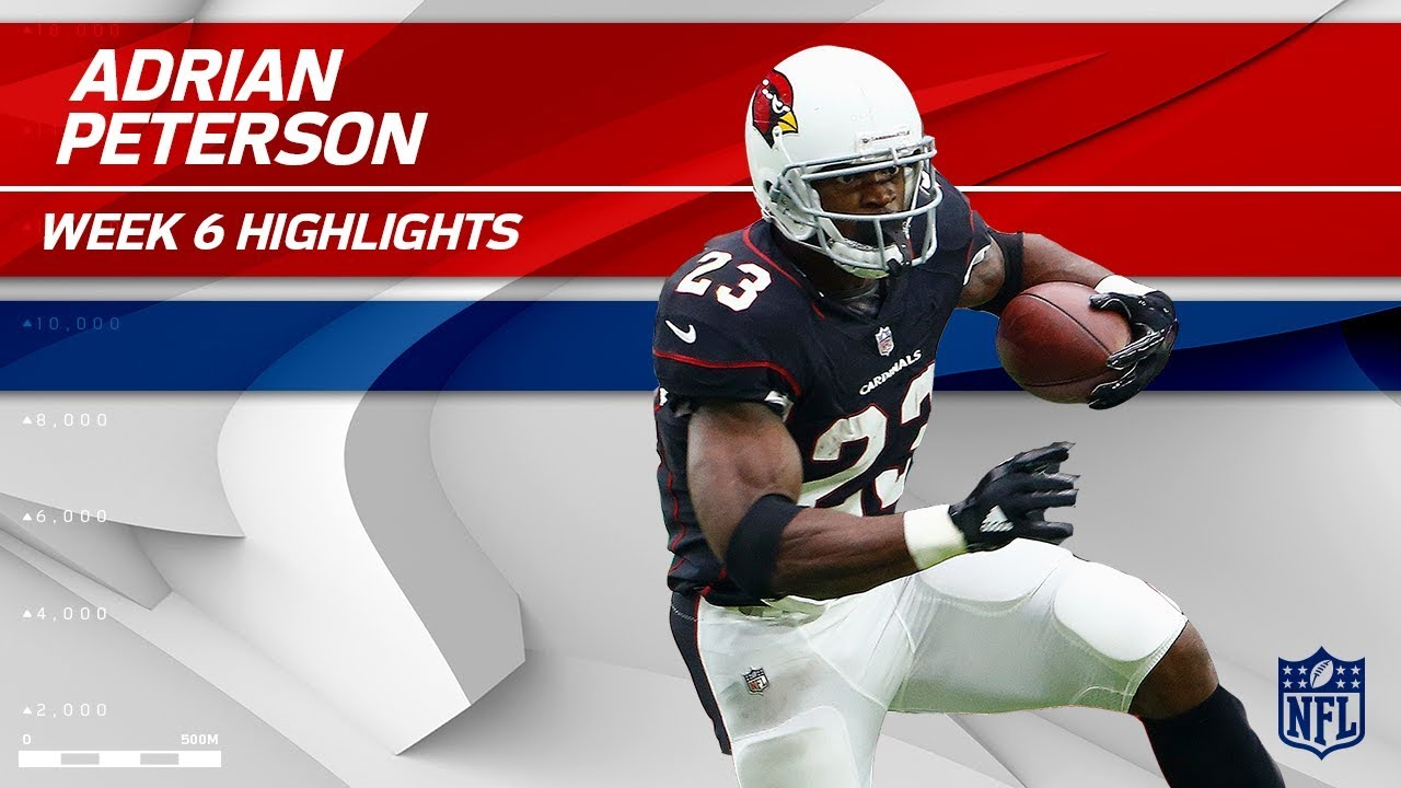 the latest 1e4bd 3c548 Adrian Peterson's 1st Game in a Cardinals Jersey!   Bucs vs. Cardinals   Wk  6 Player Highlights