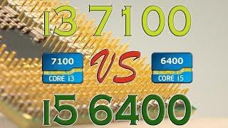 i3 7100 vs i5 6400 benchmarks gaming tests review and comparison kaby lake vs skylake