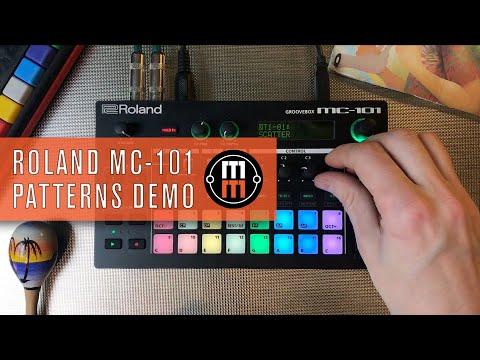 Roland MC 101 - Custom Patterns Demo (no Talking)