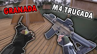 Usando FLASHBANG + M4 😱 ▬ Sensual Gameplay de Airsoft ▬ Quiero Pizza 😥