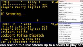 01/12/18 PM Niagara County Police & Fire Scanner Stream Fire Wire