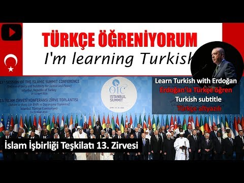 Learn Turkish with Erdoğan (1) Turkish Subtitle