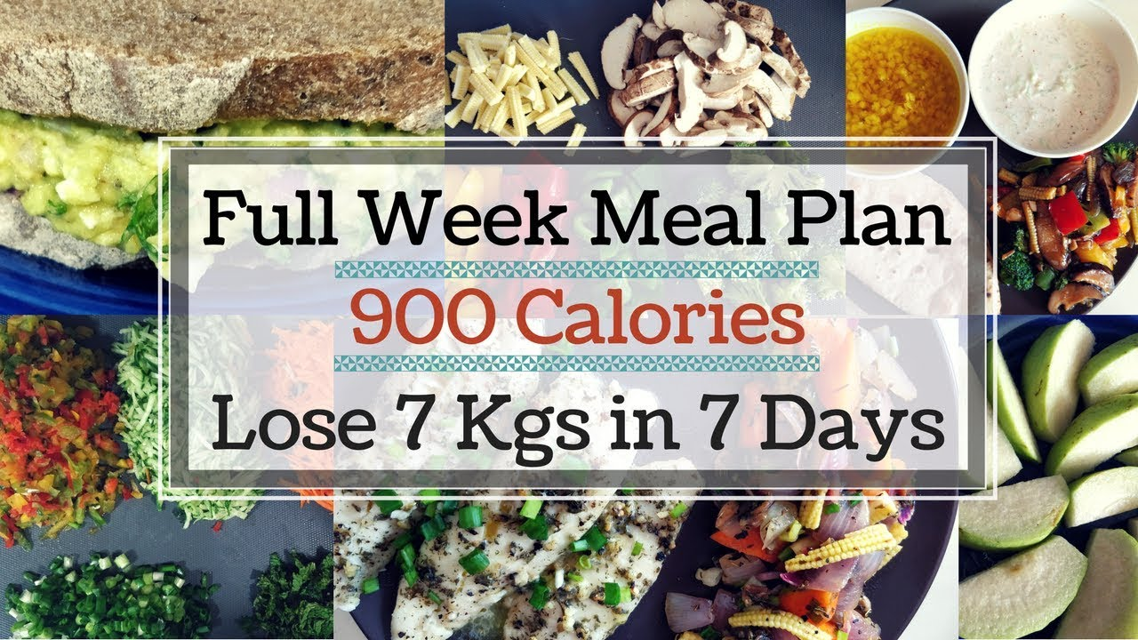 900 Calorie Dinner how to lose weight fast 7 kgs in 7 days | 900 calorie diet/meal plan | full  week indian meal plan
