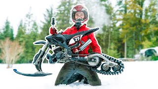 We Built The Worlds Smallest Snow Bike!