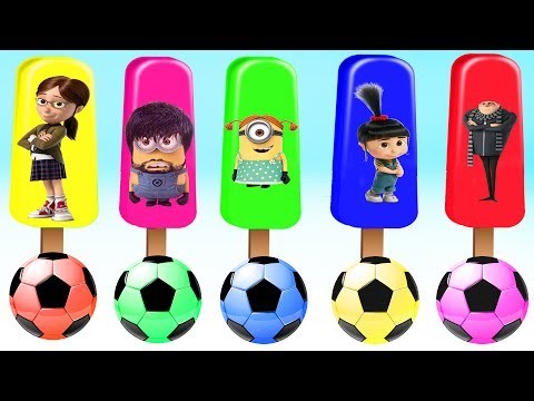 Thumbnail: Learn Colors with Despicable Me 3 Antonio Lucy Mickey Mouse Doc McStuffins Finger Family Nursery