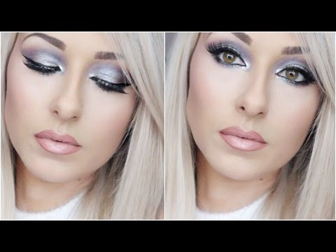Purple And Silver Glam Holiday makeup - Collab Nikkia Joy - 동영상