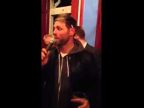 A drunk Brian McFadden sings Westlife's Uptown Girl on karaoke