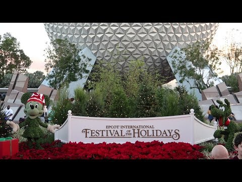 Disney World's EPCOT Festival Of The Holidays | Food, Fireworks & More!