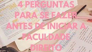 4 PERGUNTAS PARA CALOUROS DE DIREITO #estudantededireito