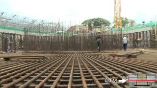 Lotus Tower construction  summery up to September 2014