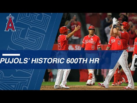 Watch Albert Pujols Hit A Grand Slam For His 600th Career Home Run
