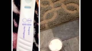 positive pregnancy test and positive bleach test