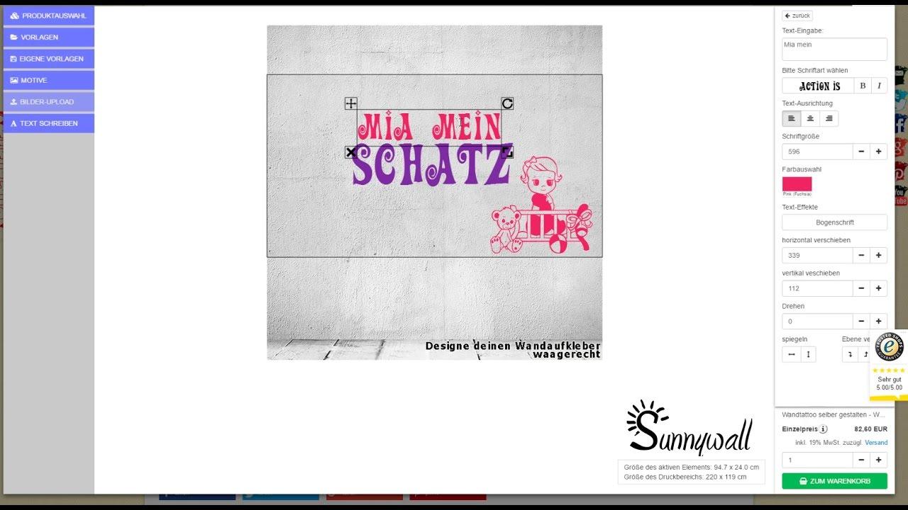 Wandtattoo & Shirts Selber Machen Bei Sunnywall.de